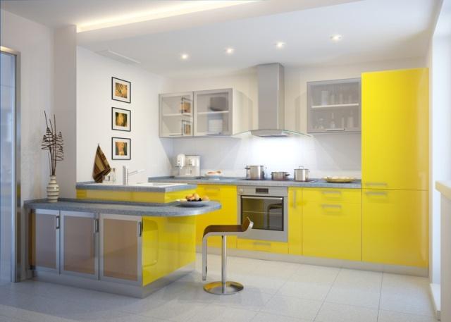 Kuchnia w kolorze żółtym  Projekt kuchni i jadalni   -> Kuchnia Letnia Prawo Budowlane